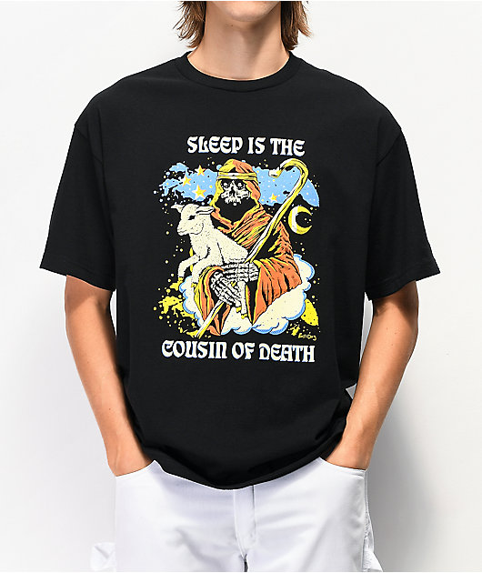 Boss Dog Sleep camiseta negra