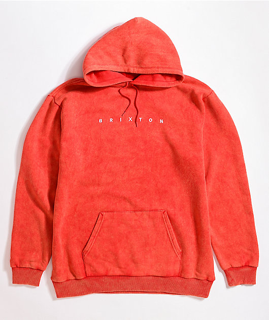 Brixton Cantor Red Pigment Hoodie