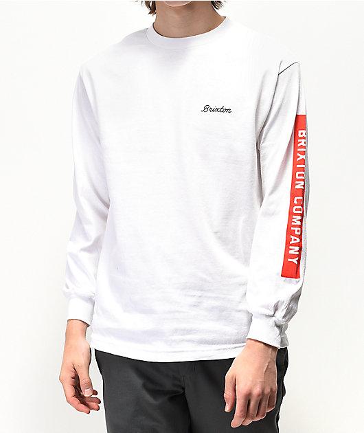Brixton Dwell White Long Sleeve T-Shirt