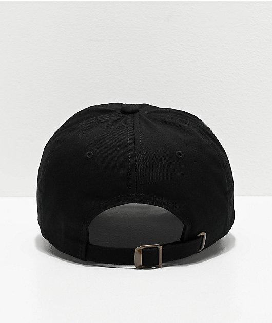 Brixton Forte Black Strapback Hat