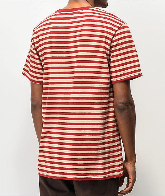 Brixton Hilt Mini Stripe Red T-Shirt
