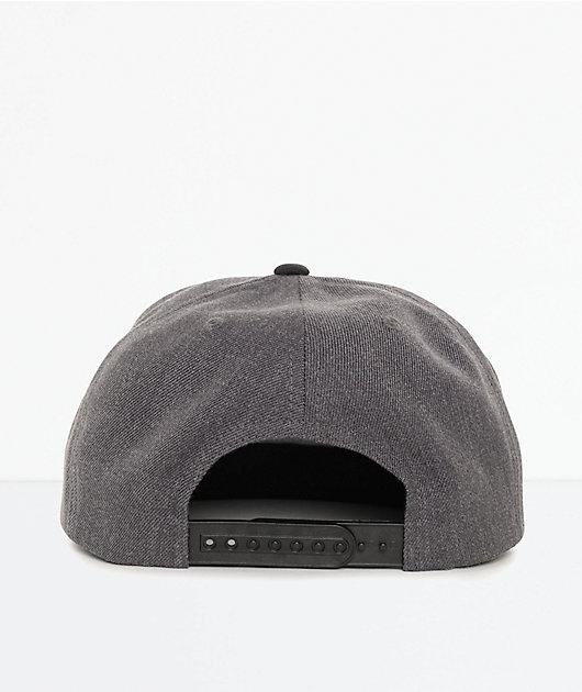 Brixton Jolt Charcoal & Black Snapback Hat