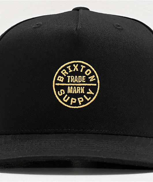 Brixton Oath 110 MP Black Snapback Hat