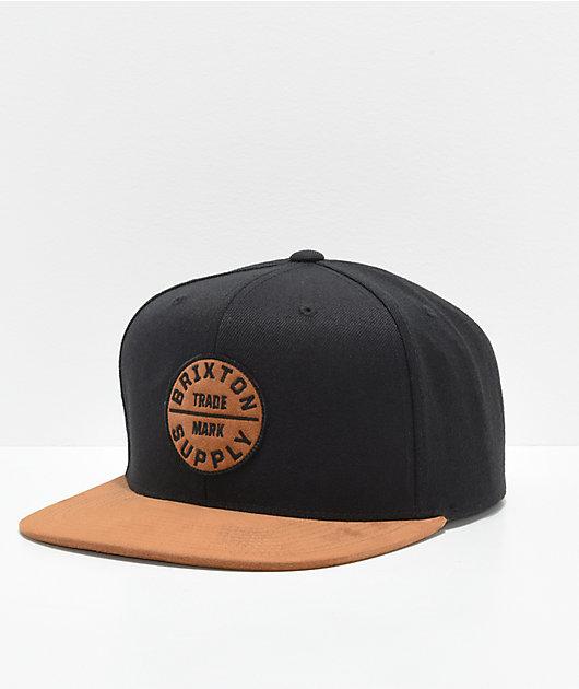 Brixton Oath III Black & Copper Snapback Hat