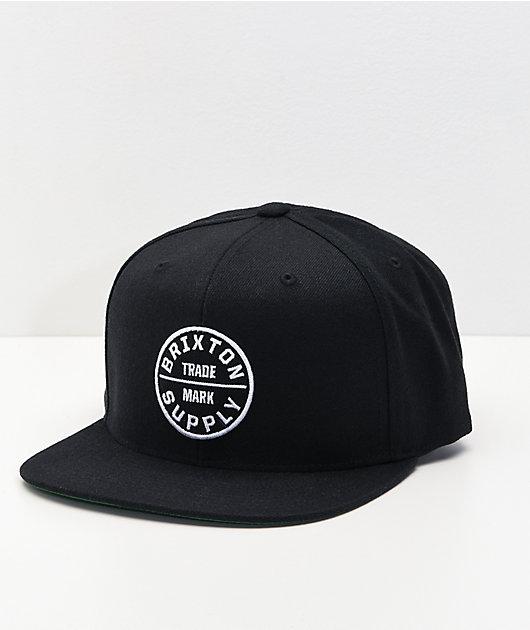 Brixton Oath III Black Snapback Hat