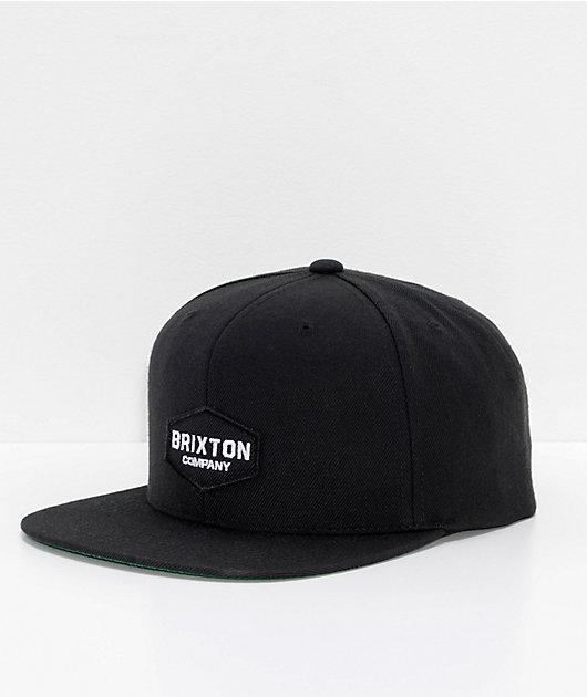 Brixton Obtuse II gorra snapback en negro