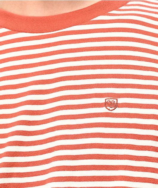 Brixton Pablo Orange & White Striped Knit T-Shirt