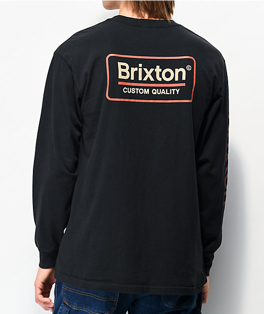 Brixton Palmer II Black Long Sleeve T-Shirt