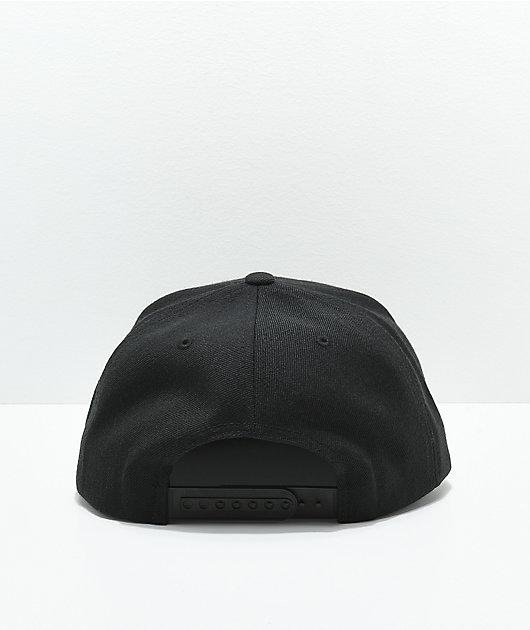 Brixton Stowell Black Snapback Hat