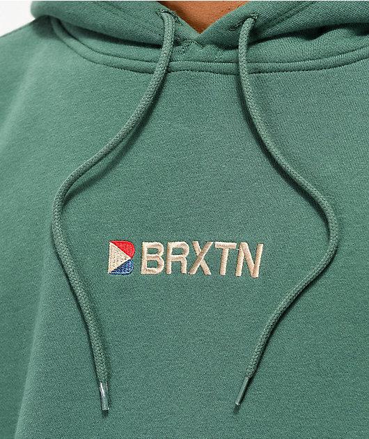 Brixton Stowell II Green Hoodie