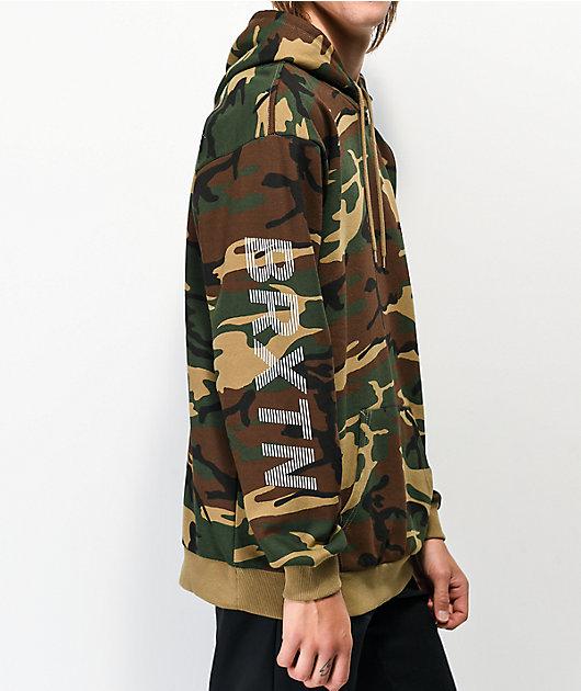 Brixton Thread sudadera con capucha de camuflaje