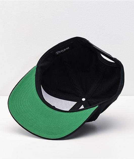 Brixton Wheeler Black Snapback Hat