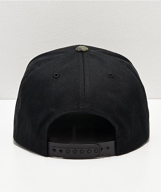 Brixton Wheeler Camo & Black Snapback Hat