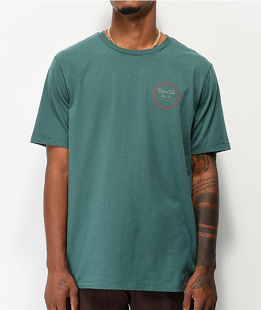 Brixton Wheeler II Emerald T-Shirt