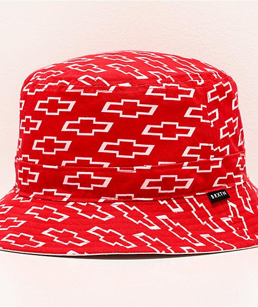 Brixton x Chevy Backyard sombrero de cubo blanco