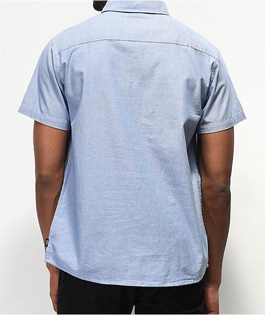 Brixton x Independent Officer Light Blue Short Sleeve Button Up Shirt
