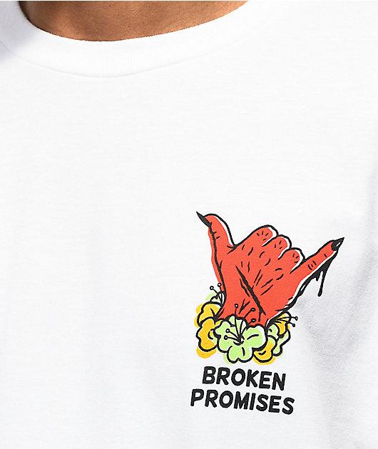 Broken Promises Aloha From Hell White T-Shirt