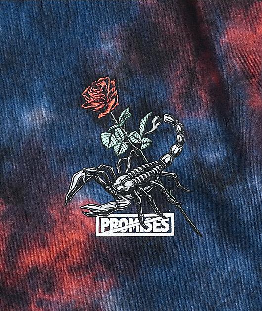 Broken Promises Antidote Red & Blue Tie Dye T-Shirt