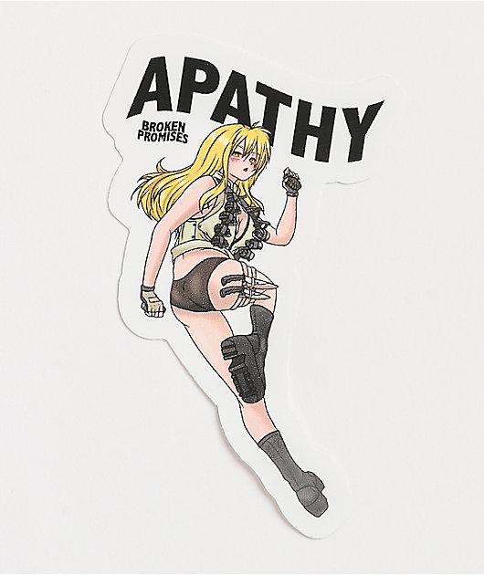 Broken Promises Apathy Fighter Anime Sticker