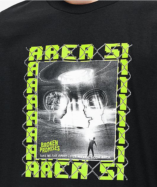 Broken Promises Area 51 Black T-Shirt