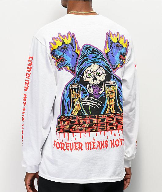 Broken Promises Bad Chemistry White Long Sleeve T-Shirt