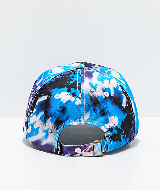 Broken Promises Bad Habits Blue & Purple Tie Dye Strapback Hat