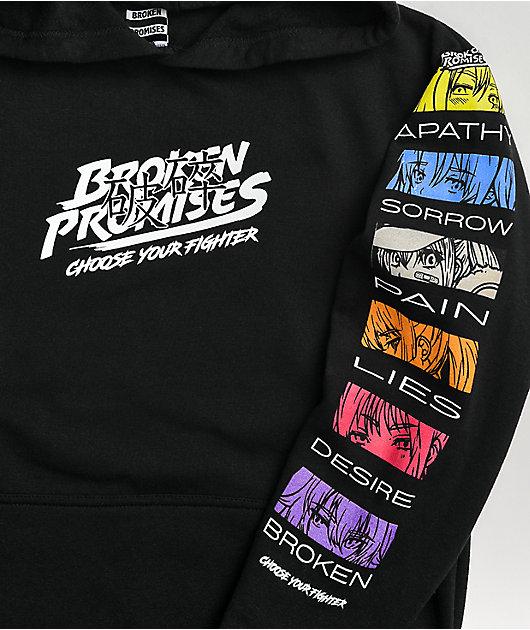 Broken Promises Choose Your Player Black Hoodie