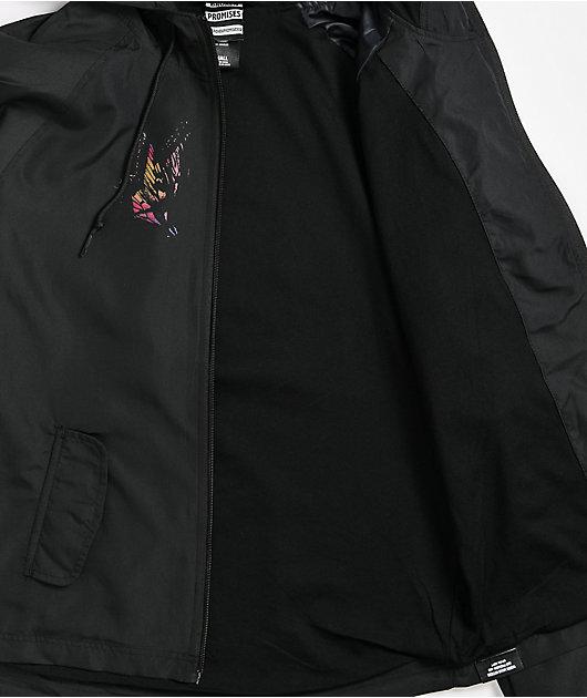 Broken Promises Destructive Nature Black Windbreaker Jacket