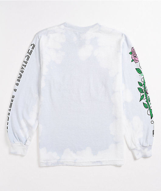 Broken Promises Disabler Grey Tie Dye Long Sleeve T-Shirt