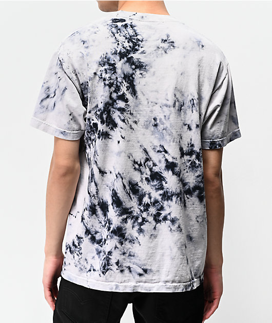 Broken Promises Drop In camiseta tie dye negra y blanca
