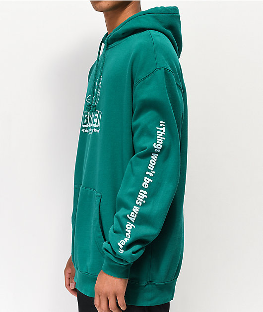 Broken Promises Evermore sudadera con capucha verde azulado