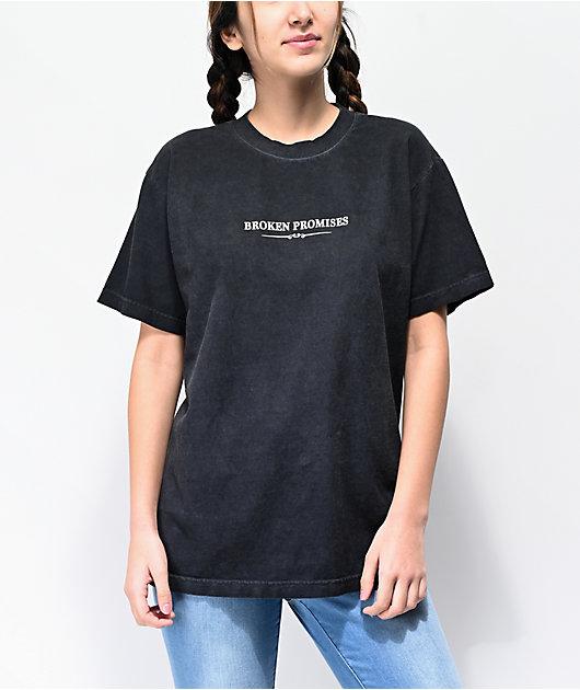 Broken Promises FeeledGuide Black Oil Wash T-Shirt