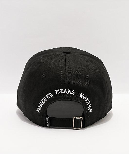 Broken Promises Graveyard Black Strapback Hat
