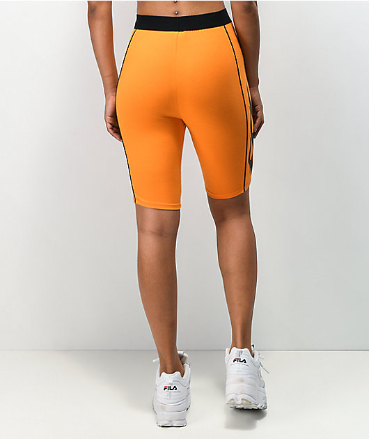 Broken Promises Inferno Orange Bike Shorts