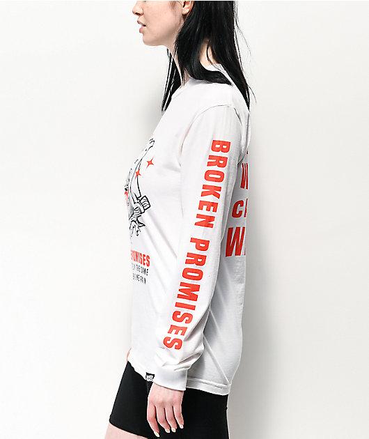 Broken Promises Maneater camiseta blanca de manga larga
