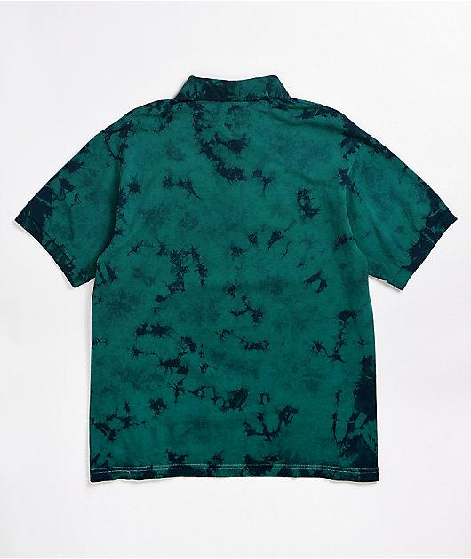 Broken Promises Numb Green Tie Dye Polo Shirt