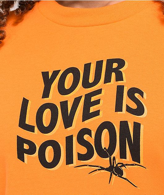 Broken Promises Poison Rose Orange T-Shirt
