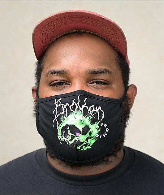 Broken Promises Problems Black Face Mask