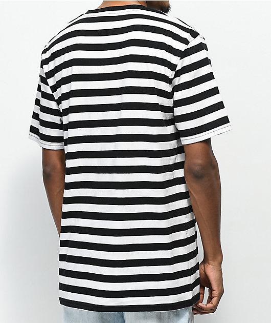 Broken Promises Thornless Black & White Striped T-Shirt