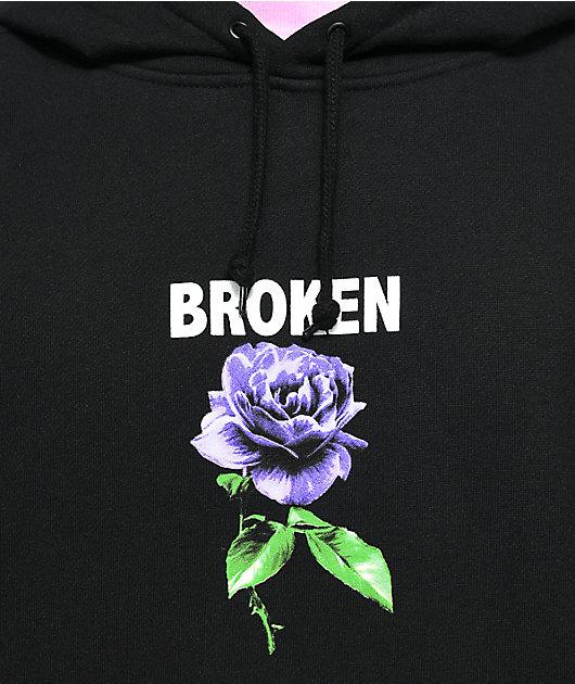 Broken Promises Thornless Black Hoodie