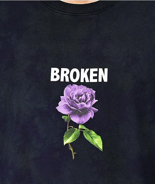 Broken Promises Thornless Black Tie Dye Long Sleeve T-Shirt