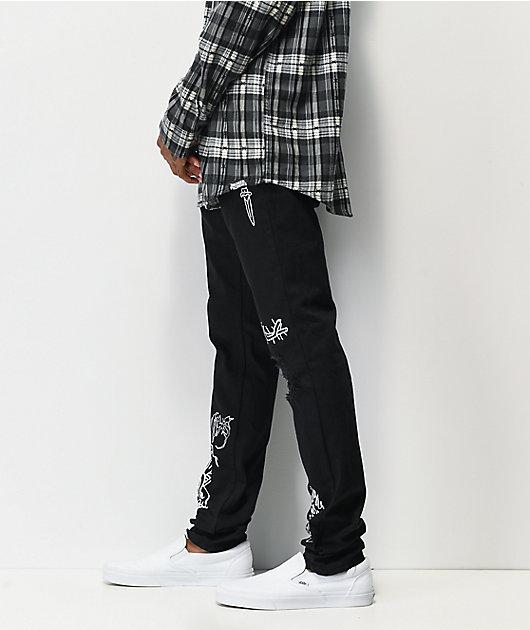 Broken Promises Unfortunate jeans de mezclilla negra