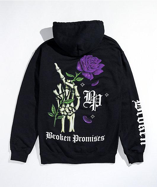 Broken Promises Wishful Thinking Black Hoodie