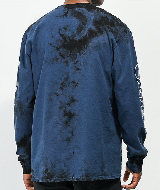 Broken Promises x Casper Hand Hug Blue Tie Dye Long Sleeve T-Shirt