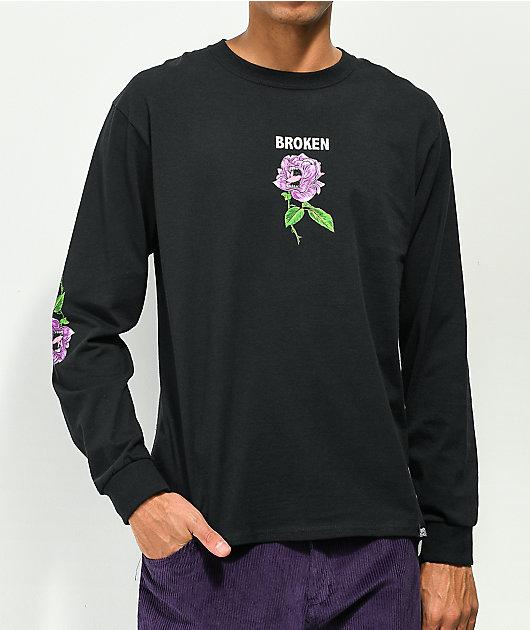 Broken Promises x Santa Cruz Screaming Thornless Black Long Sleeve T-Shirt