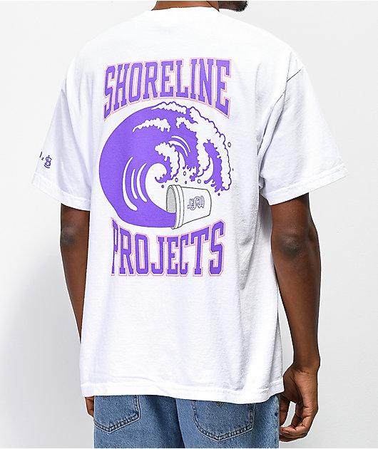 Brooklyn Projects x Shoreline Mafia Wavy camiseta blanca