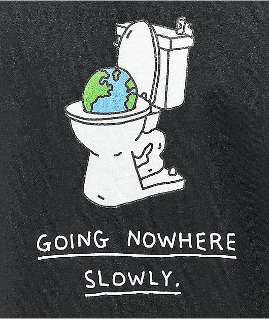 Brother Merle Toilet World Black T-Shirt