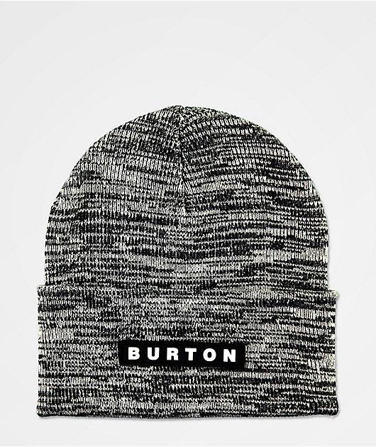 Burton All 80 Black & White Marl Beanie