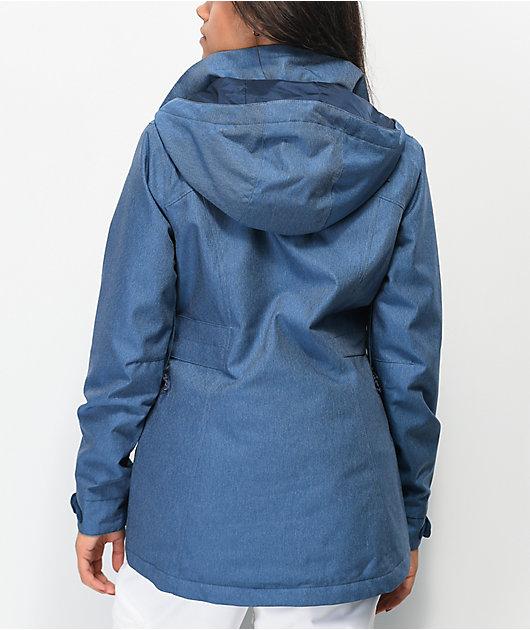 Burton Jet Set Light Blue Denim 10K Snowboard Jacket