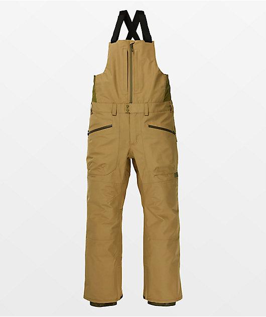 Burton Reserve Khaki Gore-Tex Snowboard Bib Pants